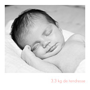 Faire-part de naissance Simple 5 photos (triptyque) blanc page 4