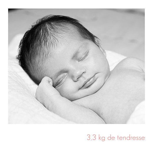 Faire-part de naissance Simple 5 photos (triptyque) blanc - Page 4