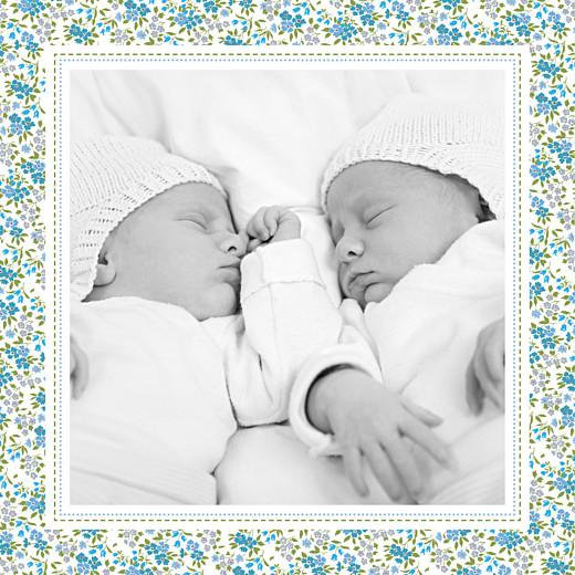 Faire-part de naissance Petit liberty jumeaux bleu - Page 5