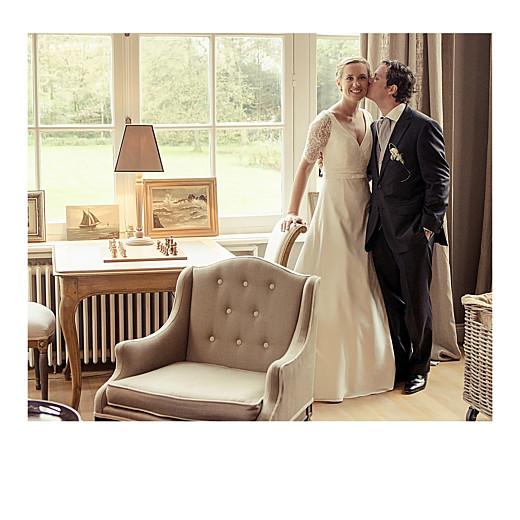 Carte de remerciement mariage Petit moderne (triptyque) blanc - Page 2