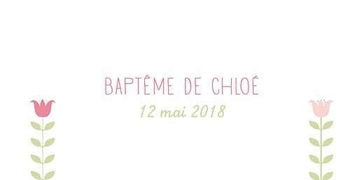 Marque-place Baptême Folk rose vert - Page 4