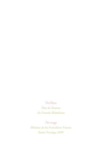 Menu de baptême Folk rose vert - Page 2