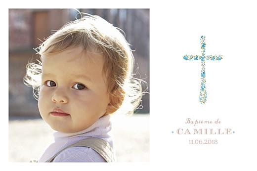 Carte de remerciement Merci croix liberty bleu