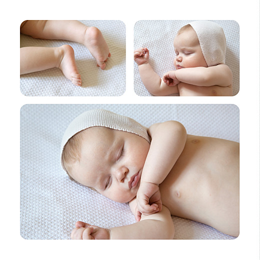 Faire-part de naissance Ananas 3 photos bleu - Page 2