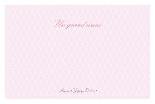 Carte de remerciement mariage Gourmand raffiné 4 photos rose - Page 2