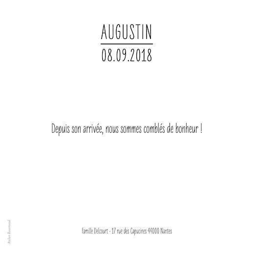 Faire-part de naissance L'essentiel (3 photos) blanc - Page 3