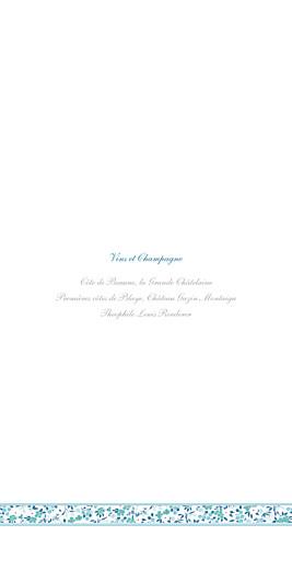 Menu de mariage Ruban liberty (4 pages) bleu - Page 2