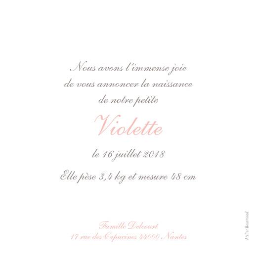 Faire-part de naissance Sucre d\'orge rose pâle - Page 2