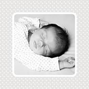 Faire-part de naissance Tombe la pluie (triptyque) blanc & rose page 4