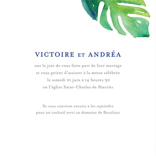 Faire-part de mariage Acapulco (4 pages) blanc & vert - Page 3