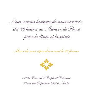 Carton d'invitation mariage jaune on dirait le sud... jaune