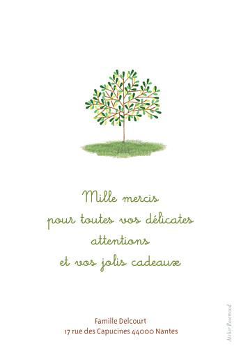 Carte de remerciement Petit arbre photo vert - Page 2