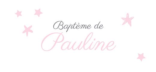Etiquette perforée baptême Nuit étoilée gris rose