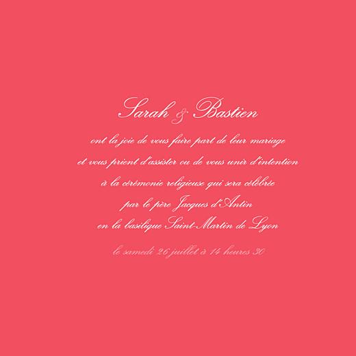 Faire-part de mariage Chic médaillon grenadine - Page 3