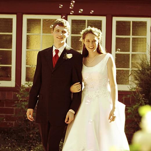 Carte de remerciement mariage Chic médaillon vert