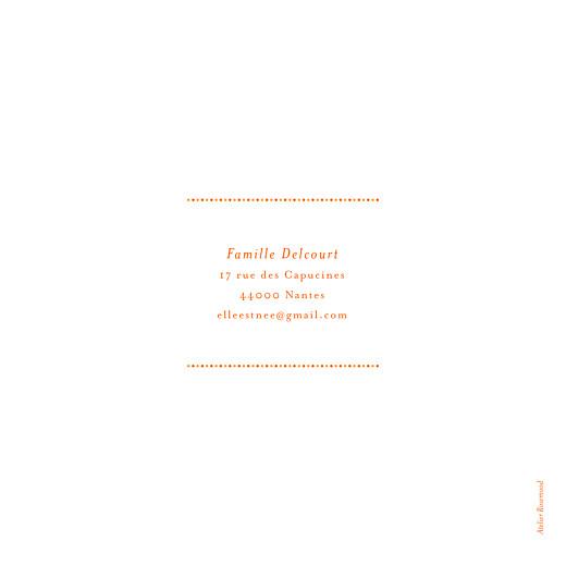 Faire-part de naissance Nomade bilingue orange - Page 4
