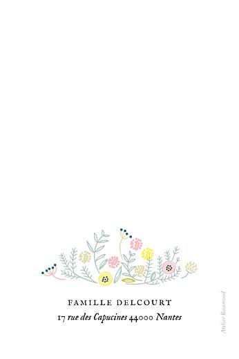 Carte de remerciement Merci douceur champêtre photo blanc - Page 2