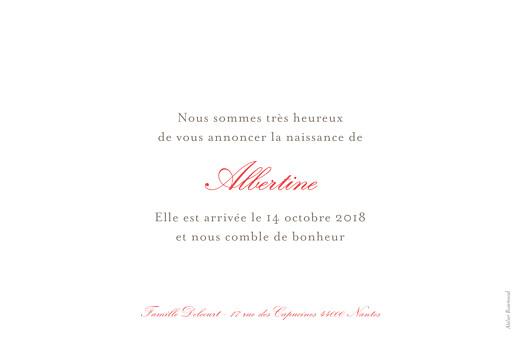 Faire-part de naissance Pirouette photo paysage rose - Page 2