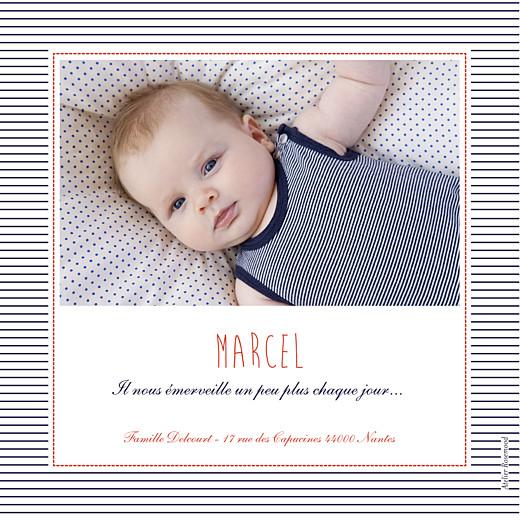 Faire-part de naissance Matelot photo rouge & bleu - Page 2