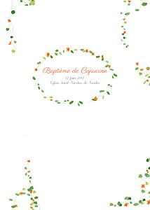 Livret de messe marguerite courtieu capucine orange