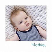 Faire-part de naissance Petit polaroid (triptyque) blanc page 1