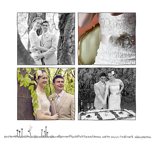 Carte de remerciement mariage Promesse champêtre (5 photos) blanc - Page 2