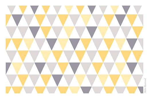 Carte de voeux Petits triangles photo jaune taupe - Page 4