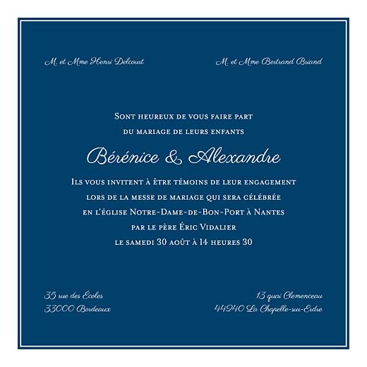 Faire-part de mariage Carré chic bleu marine - Page 3