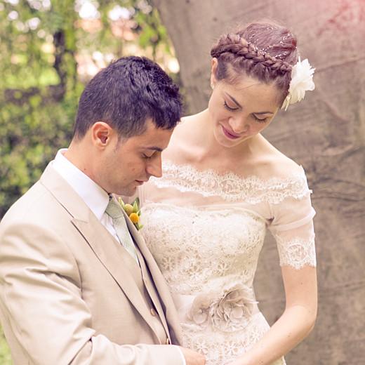 Carte de remerciement mariage Carré chic bleu marine