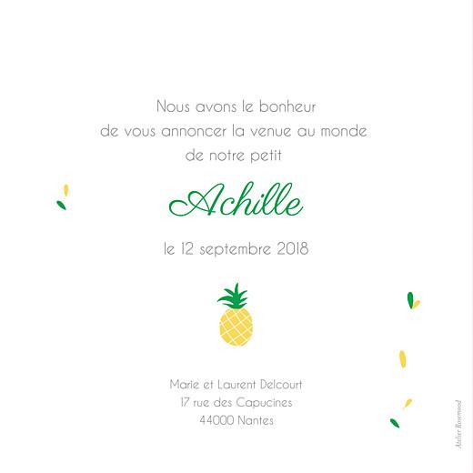 Faire-part de naissance Ananas jaune - Page 2