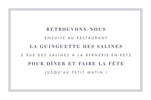 Carton d'invitation mariage marron l'essentiel kraft & bleu-violet