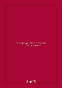 Livret de messe mariage Classique liseré rouge