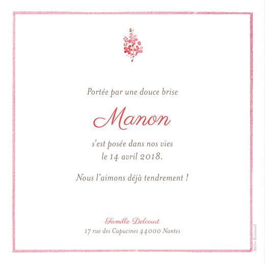 Faire-part de naissance Fleurs des champs rose - Page 2