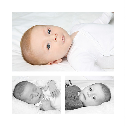 Faire-part de naissance Lovely boy 3 photos blanc - Page 2