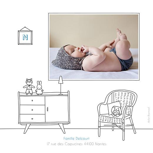 Faire-part de naissance My little room photo blanc - Page 2