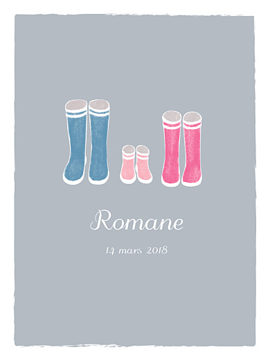 Affiche Balade gris & rose - Page 1