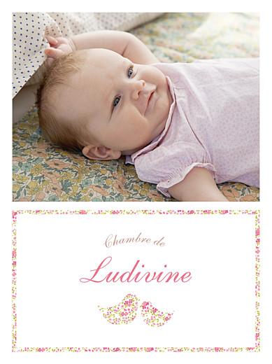 Affichette Liseré liberty cocottes photo rose - Page 1