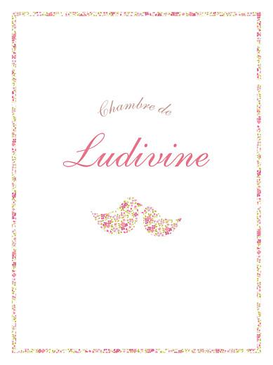 Affichette Liseré liberty cocottes rose - Page 1