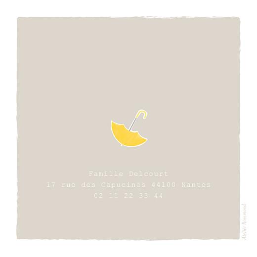 Faire-part de naissance Balade (triptyque) beige jaune - Page 3
