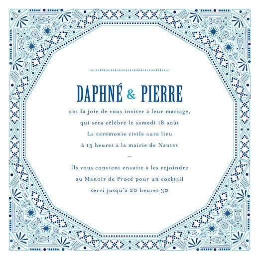 Faire-part de mariage Nomade bleu - Page 3