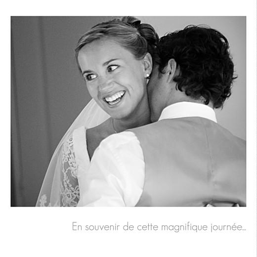 Carte de remerciement mariage Moderne 3 photos blanc - Page 2