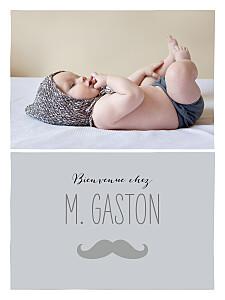 Affiche avec photo moustache photo gris