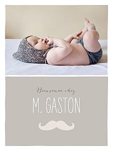Affiche marron moustache photo taupe