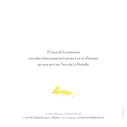 Faire-part de mariage Mimosa jaune - Page 2