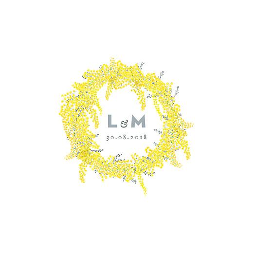 Faire-part de mariage Mimosa (4 pages) jaune