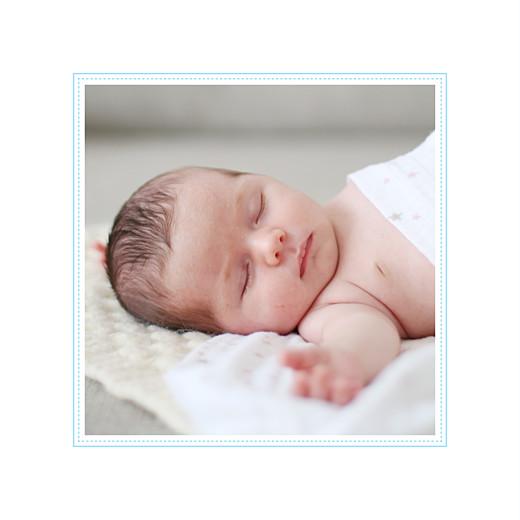 Faire-part de naissance Petites rayures photo bleu - Page 2