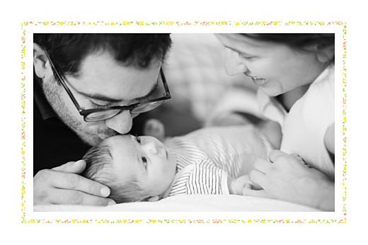 Faire-part de naissance Liberty tradition 2 photos jaune & corail - Page 2