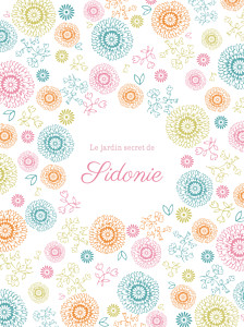 Affiche Champêtre rose & orane