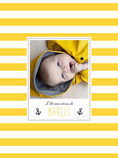 Affiche Matelot photo jaune & bleu - Page 1