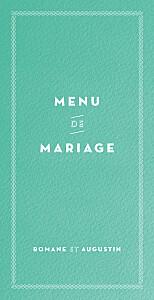 Menu de mariage kraft la déclaration vert texturé